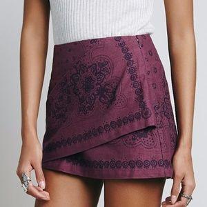 Free People Day Trip Mini Skirt